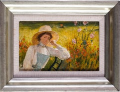 Small impressionist oil painting by Peruvian artist Albert Lynch