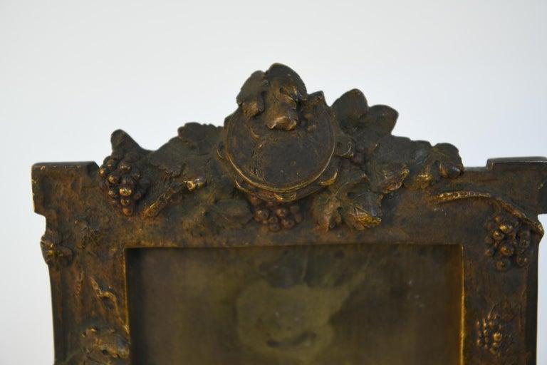 Art Nouveau Albert Marionnet Bronze Picture Frame For Sale