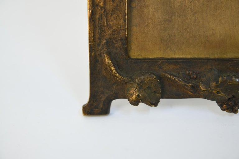 Late 19th Century Albert Marionnet Bronze Picture Frame For Sale
