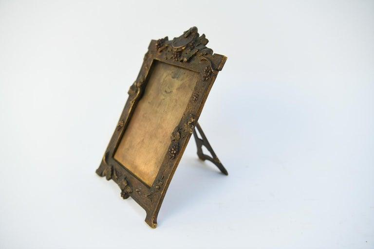 Albert Marionnet Bronze Picture Frame For Sale 1