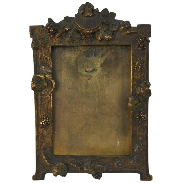 Albert Marionnet Bronze Picture Frame For Sale