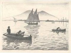 Le port de Naple - Original Lithograph by Albert Marquet - 1924 ca.