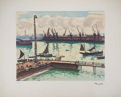 Normandy : Le Havre harbor - Lithograph, Ltd /200