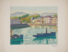 Saint Jean de Luz (Harbor in the South West of France) - Lithograph, Ltd /200
