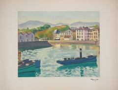 Saint Jean de Luz (Harbor in the South West of France) - Lithograph, Ltd /200