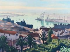'The Port of Algiers' Lithograph