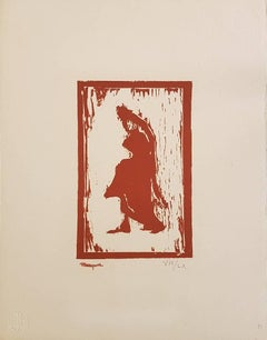 Woman Figure - Original Woodcut Print by A. Marquet - 1910 ca.