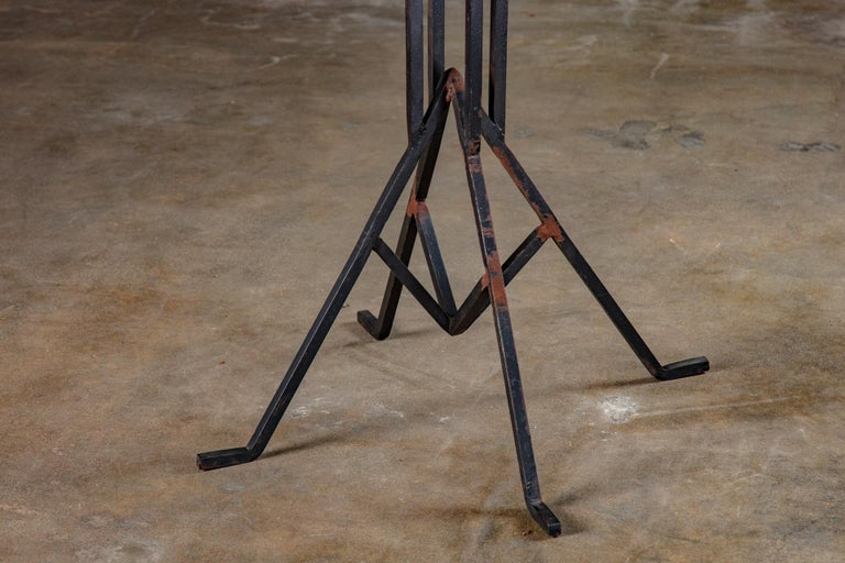 Brutalist Albert McArthur Enameled Steel and Iron Side Table For Sale
