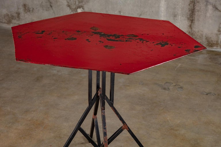 American Albert McArthur Enameled Steel and Iron Side Table For Sale