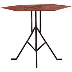 Albert McArthur Enameled Steel and Iron Side Table