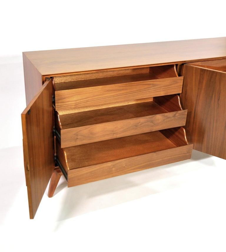 Albert Parvin Diamond Front Walnut Dresser For Sale 4