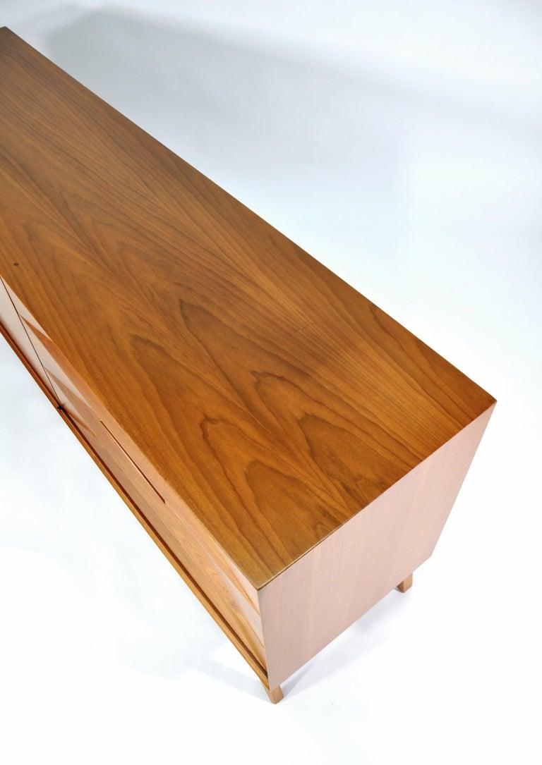 Albert Parvin Diamond Front Walnut Dresser For Sale 7