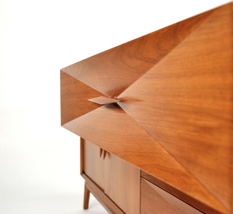 Albert Parvin Diamond Front Walnut Dresser For Sale 12