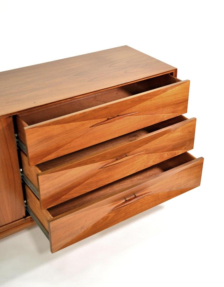 Albert Parvin Diamond Front Walnut Dresser For Sale 3