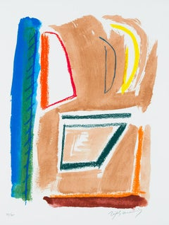 ALBERT RÀFOLS-CASAMADA: Estructures 1 - Lithograph on paper, Spanish Abstraction