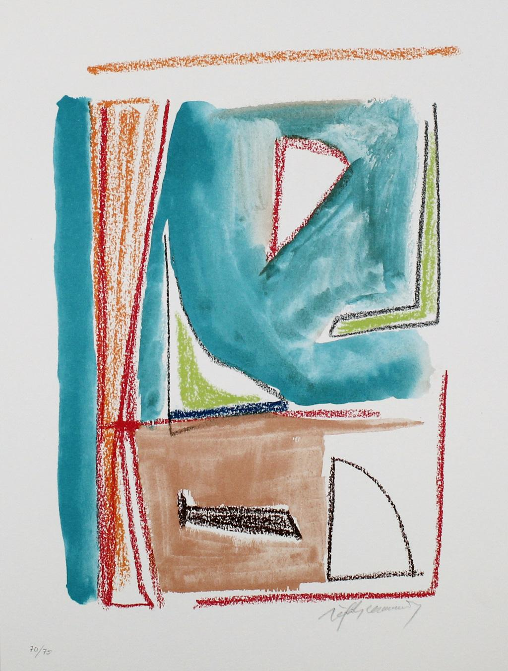 ALBERT RÀFOLS-CASAMADA: Estructures 2 - Lithograph on paper, Spanish Abstraction