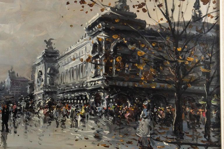 Albert Tissandier, Gouache Place De L'opéra Paris, circa 1870-1880 For Sale 3
