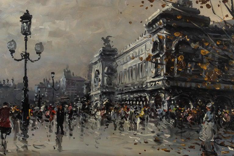 Albert Tissandier, Gouache Place De L'opéra Paris, circa 1870-1880 For Sale 4