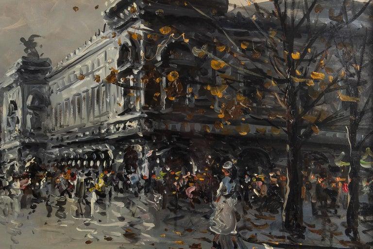 Albert Tissandier, Gouache Place De L'opéra Paris, circa 1870-1880 For Sale 2