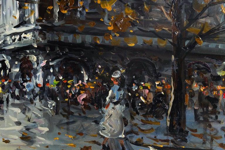 Albert Tissandier Oil on Canvas Place De L'opéra Paris, circa 1870-1880 For Sale 3