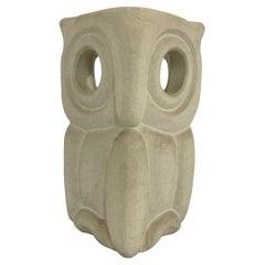 Albert Tormos Stone Owl Desk Lamp, France, 1970s