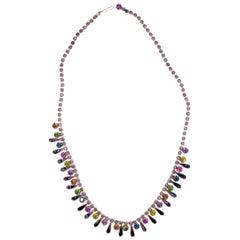 Albert Weiss, 1940 Vintage Necklace-Earring Set, Enamel