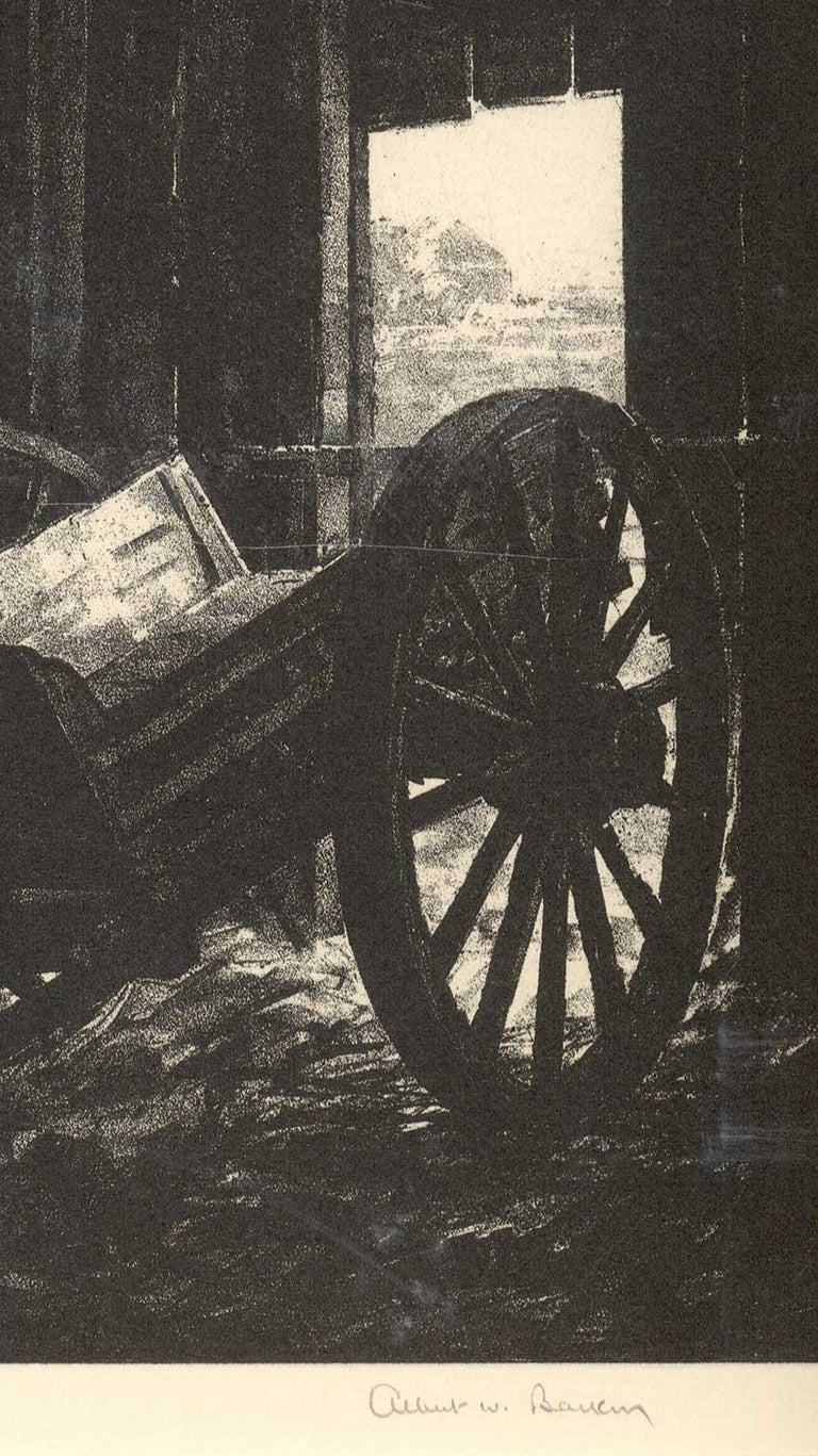 The Old Cart (Nostalgia for a disappearing way of American life) - American Modern Print by Albert Winslow Barker