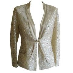 Alberta Feretti Embellished Tuxedo Jacket