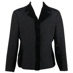 Alberta Ferretti Blazer Jacket with Velvet Trim