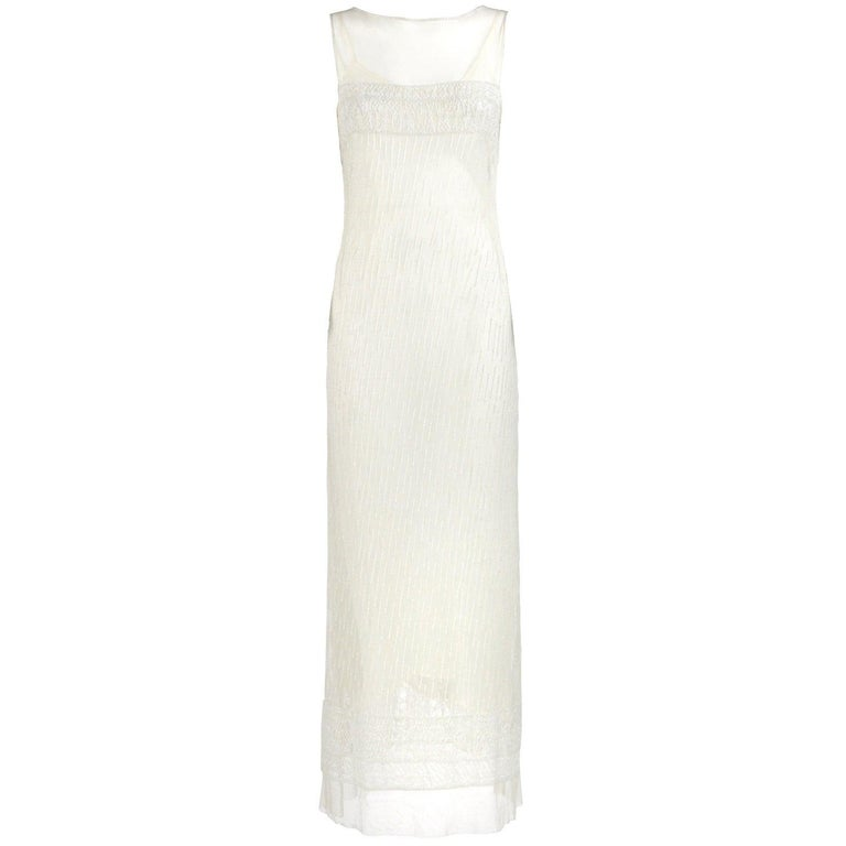Vintage Wedding Dresses For Sale: Alberta Ferretti Off-White Vintage Wedding Dress, 2000s