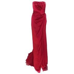 Alberta Ferretti red gown