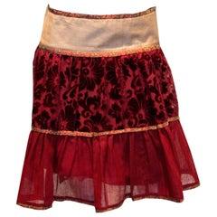 Alberta Ferretti Skirt in Plum Colours