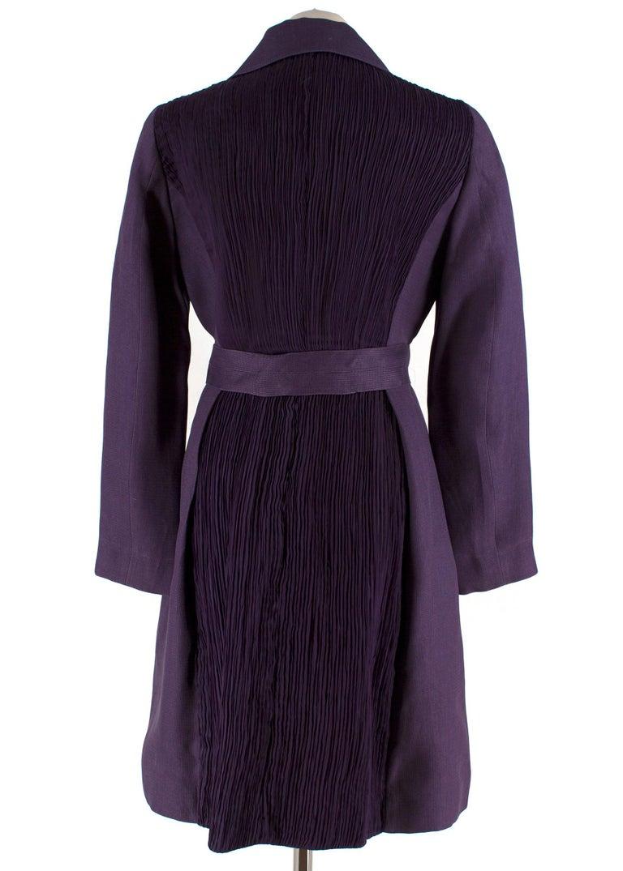 Black Alberta Ferretti vintage purple belted silk jacket  US 8 For Sale