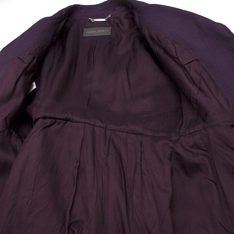 Alberta Ferretti vintage purple belted silk jacket  US 8 For Sale 1