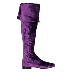 Alberta Ferretti Woman Boots Purple EU 37