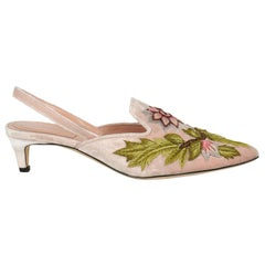 Alberta Ferretti Woman Mules Pink Fabric IT 35