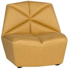 Alberta Gossip Fabric Armchair Yellow