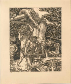 La Vendange - Original Etching by Albert Decaris - Late 1900
