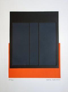 Black Squares on Orange - Original handsigned etching /60ex
