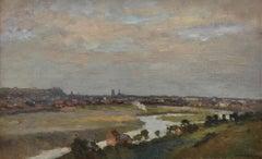 Dieppe vue des hauteurs - French Artist Impressionsm Ornament Frame Landscape