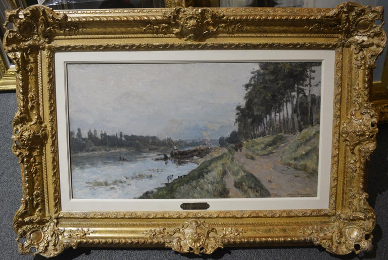 French Impressionist Landscape by Albert Lebourg 'Along the River'  For Sale 1