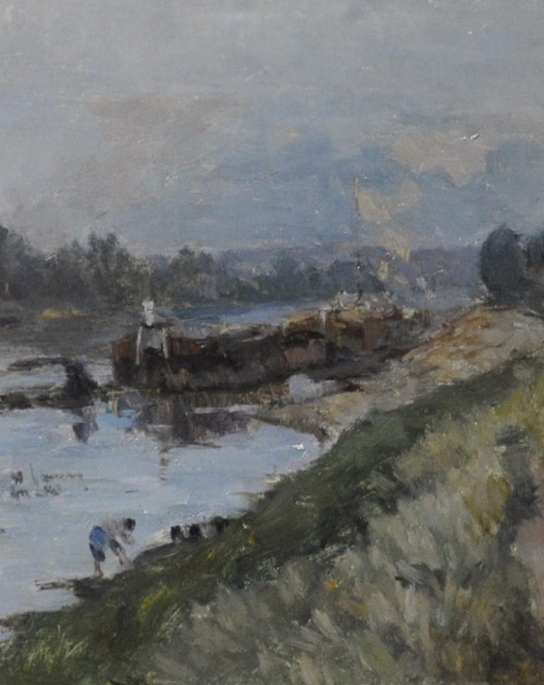 French Impressionist Landscape by Albert Lebourg 'Along the River'  For Sale 2