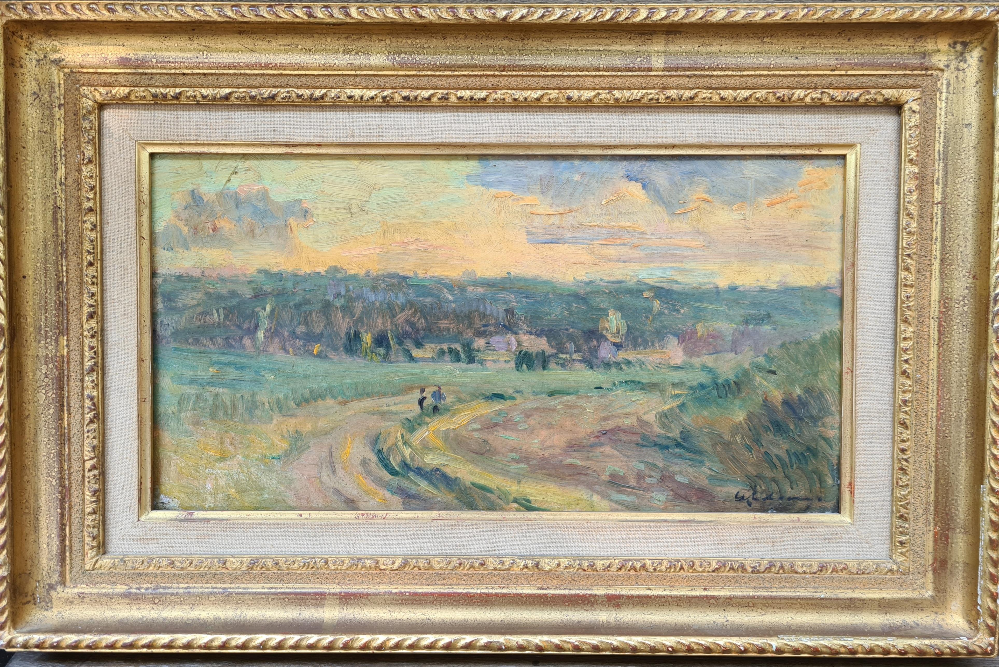 Paysage a Puteaux, Period French Impressionist Oil On Canvas