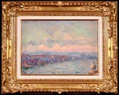 Vue de Rouen - 1918 - Impressionist Oil,  Riverscape by Albert Charles Lebourg
