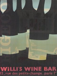 1982 Alberto Bali 'Willi's Wine Bar (Misprint)' Vintage Black,Gray,Green,Red