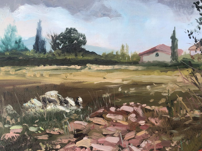 Country scene Spain oil on canvas painting landscape For Sale 1