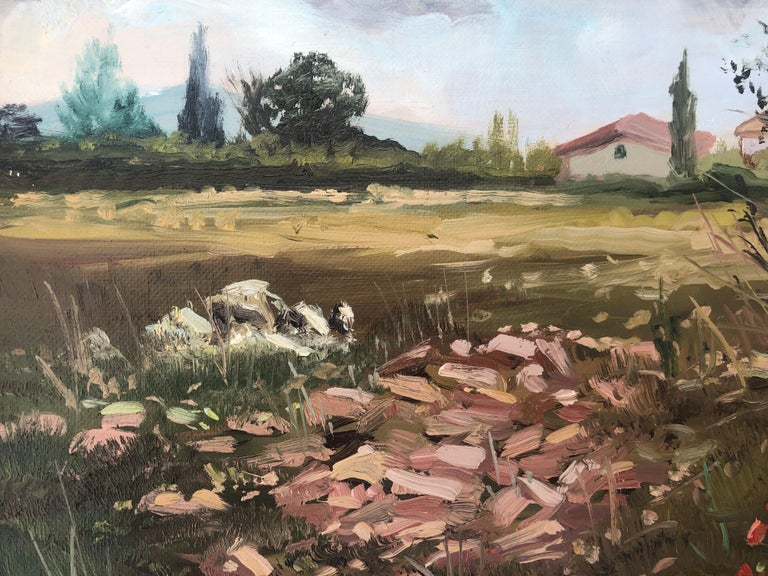 Country scene Spain oil on canvas painting landscape For Sale 2