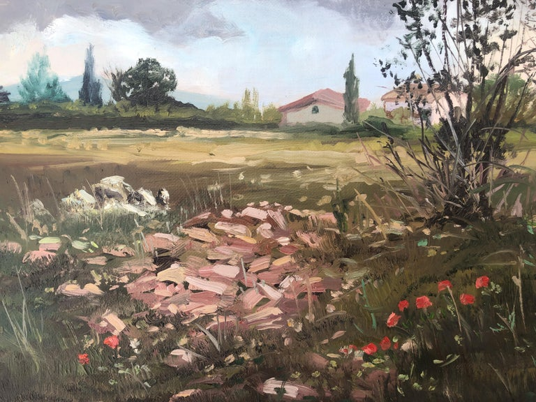 Country scene Spain oil on canvas painting landscape For Sale 3