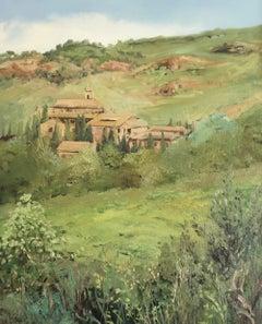 Natural painted plein air Spain oil painting landscape