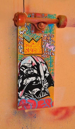 BOER VADER  Acrylic on wood laminate, and skate axle